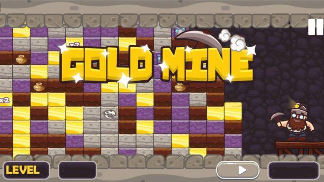 Gold Mine Match 3 Game - Gameiino