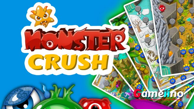 In Monster Crush you need to match the monsters and quickly destroy them to save the earth. Don't be bothered by their cute appearance, you need to pass all - Gameiino.com