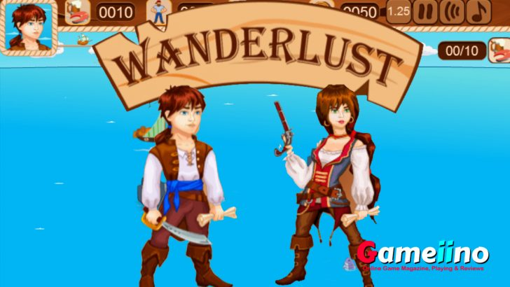 Collect treasures in the wanderlust pirate adventure games, and take on daring missions. Visit the tavern to hire crew members and buy better ships. - image - Gameiino.com