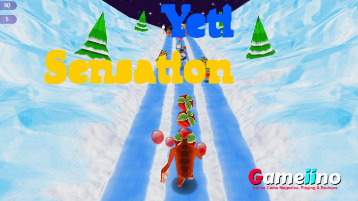 Yeti Sensation Endless Runner Game: In this endless runner you have to help the big Yeti on its way through snow and ice - Gameiino
