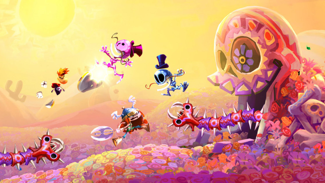 Rayman Legends has many characters that you can play with any of them provided that unlock them. Rayman, Globox, Teensies and new female character Barbara are characters that you can control them. And don't forget Murfy the greenbottle that apears as an assist character. Murfy can perform various actions such as cutting through ropes, activating mechanisms, grabbing hold of enemies and assisting in gathering Lums. - Gameiino