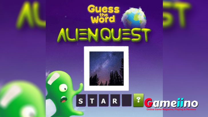 Alien Quest Teaser Two little aliens have crashed on planet Earth and no idea how to communicate in this fun word guess quiz! - image - Gameiino.com