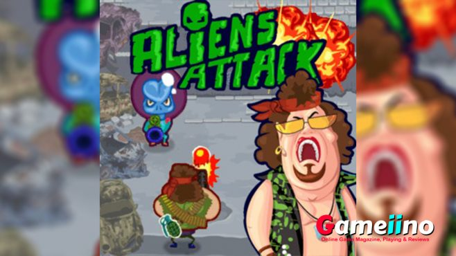 Aliens Attack is one of the best online shooting games, free shooting games and also war games online. It is boy games too. Then it is one of games for boys online in our site and also boy games online. - Gameiino