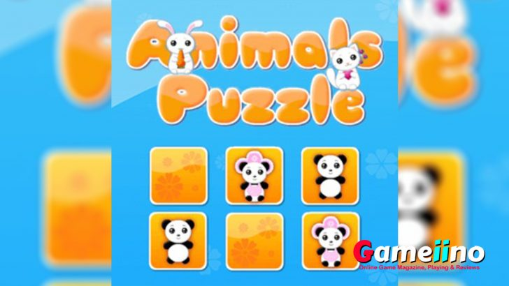 Find pairs of matching cards in this cute animal puzzle! - Gameiino
