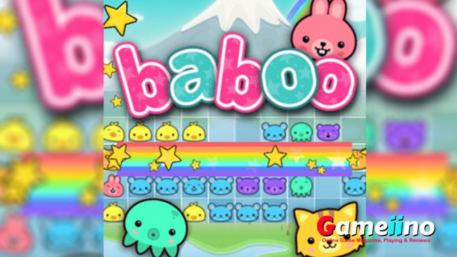 Baboo Rainbow Puzzle Teaser Help the cute Baboo animals and complete as many rainbow lines as possible - image - Gameiino.com