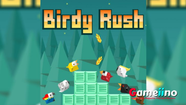 Birdy Rush Teaser Move the cute little bird to the left or right to avoid being smashed by the falling crates - image - Gameiino
