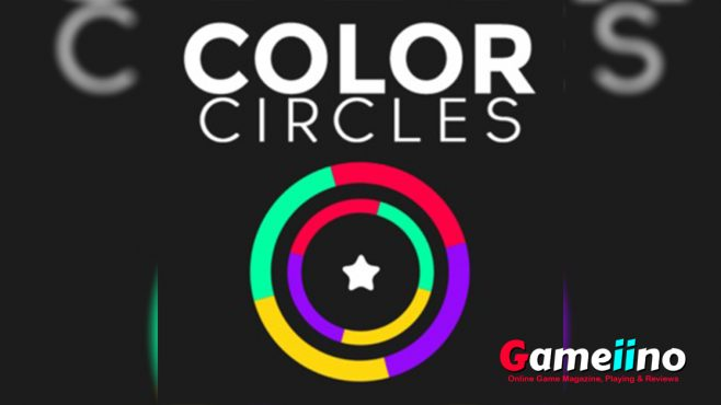 Color Circles_Teaser Highly addictive! Tap to guide the ball carefully through the obstacles in this challenging skill game - image - Gameiino.com