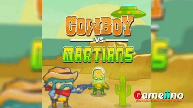 Cow boys Vs Martians Teaser In Cowboy vs Martians you have to defend your territory against Aliens - image - Gameiino.com