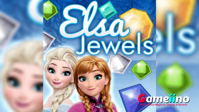 Elsa Jewels Teaser Explore the mysterious frozen world with Elsa, Anna and Olaf in this enchanting Match 3 game - image - Gameiino