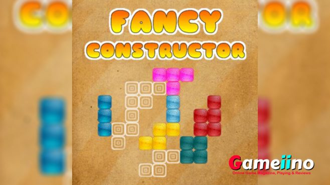 Fancy Constructor Teaser Your task in this colorful puzzle game is to fill out all white shapes with the blocks available. - image - Gameiino.com