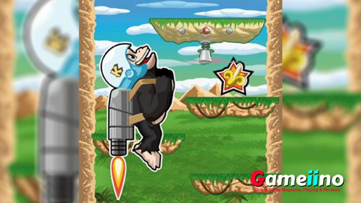 Weare your jumpsuit and get ready for just jump with Kiba Kumba the cute apes. All you need to to do is jumping as high as possible in the fun jump game! - image - Gameiino.com