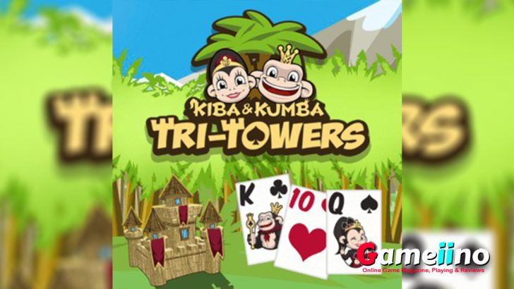 Kk Tri Towers Teaser Join the two monkeys on a fun solitaire adventure and discover their castle hidden in the jungle! - image - Gameiino