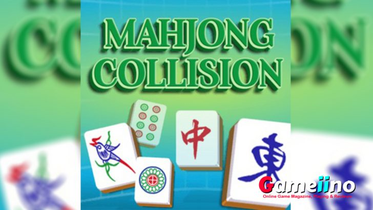 Mahjong Collision Teaser In this fun version of the classic board game you have to collide two of the same Mahjong tiles to make them disappear - image - Gameiino