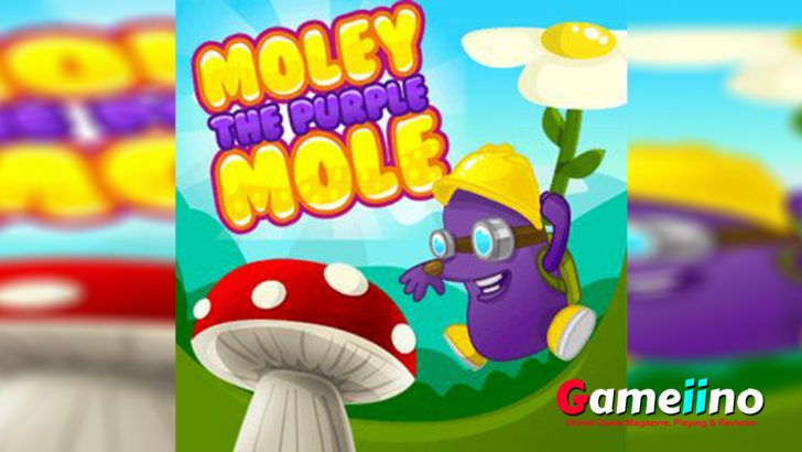 Purple Mole Teaser Moley the Purple Mole has to rescue the cute princess and your task in this cute platform puzzle is to help him - image - Gameiino.com