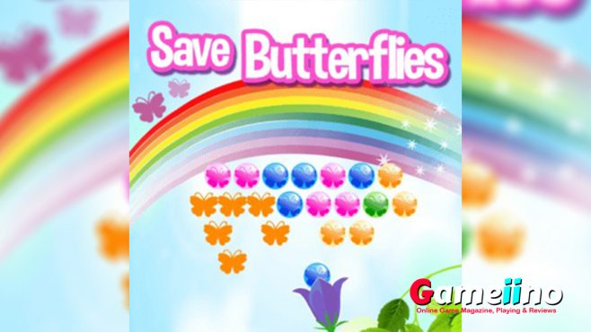 Save Butterflies Teaser The butterflies are trapped and you are their last hope in this colorful bubble shooter game! Match 3 or more bubbles of the same color to burst them and set the butterflies free - Image - Gameiino