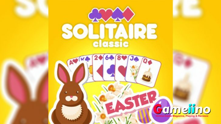 Solitaire Classic Easter TeEnjoy the timeless classic Solitaire - now with a cute Easter design for the Spring season - image - Gameiino.com