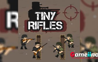 Tiny Rifles Teaser Tiny Rifles is a strategic war game Your little soldiers have to be wary of the enemy - image - Gameiino.com