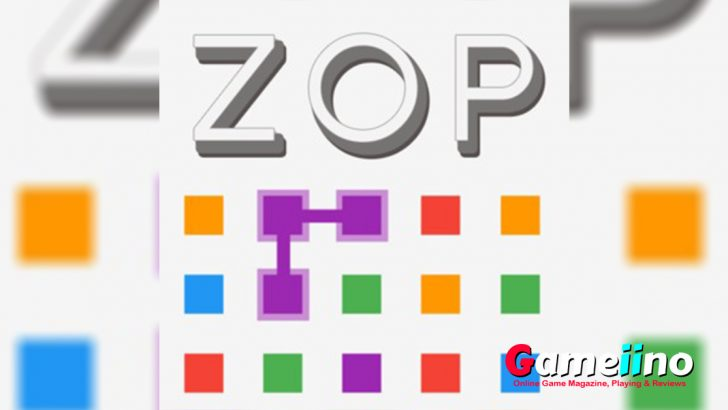 Zop Teaser Simple and addictive: connect at least 2 same-colored squares in this minimalist puzzle game to remove them from the field - image - Gameiino.com